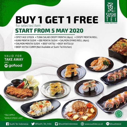 Sushi Tei Buy 1 Get 1 Free (25921667) di Kota Jakarta Selatan