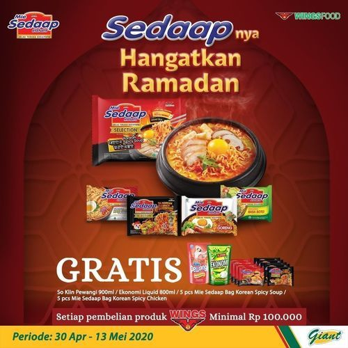 Giant Produk Sedaap Ramadan Special Price (25925471) di Kota Jakarta Selatan