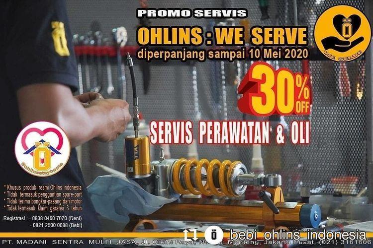 Ohlins Promo Servis 30% Off (25926395) di Kota Jakarta Selatan