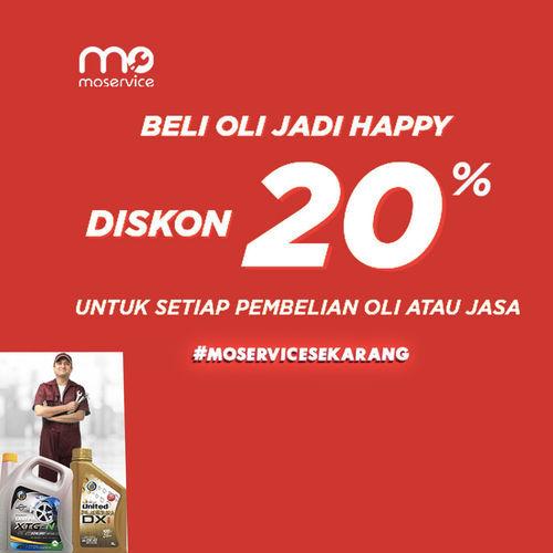Momobil.id Diskon 20% OLI & Jasa Service by United Oil Station (25926699) di Kota Jakarta Selatan