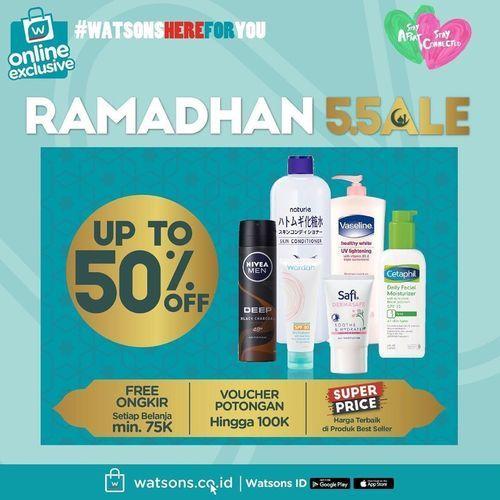 Watsons Ramadhan Sale Up To 50% (25927495) di Kota Jakarta Selatan