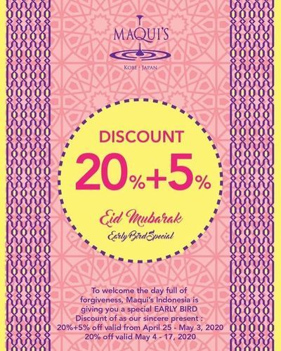 Maquis special offer 20%+5% off for Idul Fitri Hampers, Packages and Cakes (25928267) di Kota Jakarta Selatan