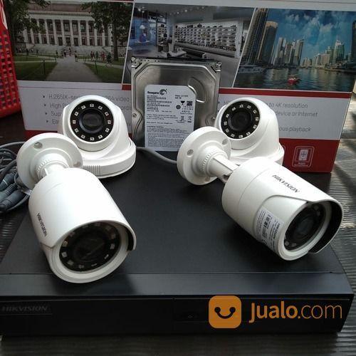Paket CCTV Hikvision Turbo HD 2MP DVR 4 Channel 4 Kamera Siap Pasang (25945743) di Kota Jakarta Pusat