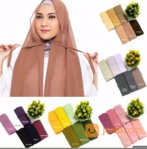 Jilbab Hijab Pashmina Tali Kerudung Pasmina Tali Termurah Terbaru Pashmina Dengan Bahan Ceruty Baby Kab Bone Jualo