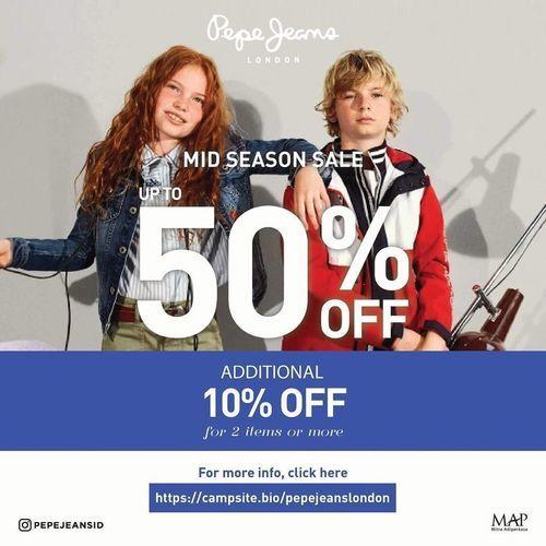 Pepe Jeans MID SEASON SALE UP TO 50% OFF (25962335) di Kota Jakarta Selatan