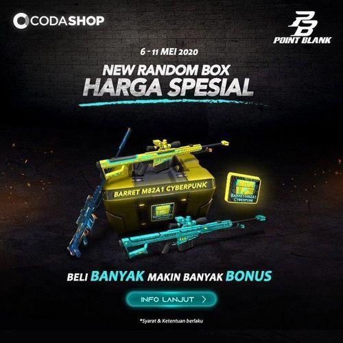 Codashop PROMO HARGA SPESIAL untuk NEW RANDOM BOX! PB CASH (25969319) di Kota Jakarta Selatan