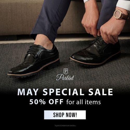 Parlent Shoes May Special Sale 50% Off (26009487) di Kota Jakarta Selatan