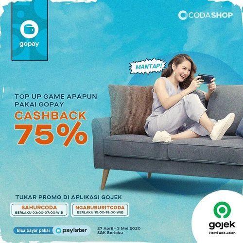 CODASHOP Promo CASHBACK 75% Top up Game Favorite kamu pakai GOPAY (26016047) di Kota Jakarta Selatan