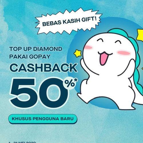 Promo Codashop CASHBACK 50% TOP UP BIGO LIVE di CODASHOP pakai GOPAY (26016647) di Kota Jakarta Selatan