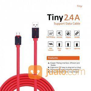 KABEL USB MICRO JETE TINY 200 CM 2.4A (26024555) di Kota Surabaya