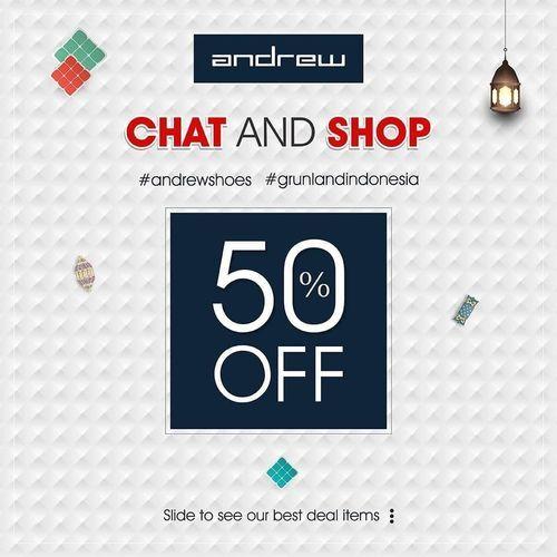 Andrew Chat And Shop 50% Off (26031415) di Kota Jakarta Selatan