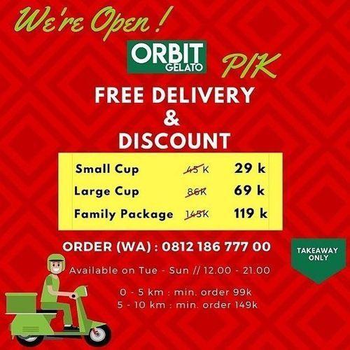 Orbit Gelato SPECIAL DISCOUNT + FREE DELIVERY (26043579) di Kota Jakarta Selatan