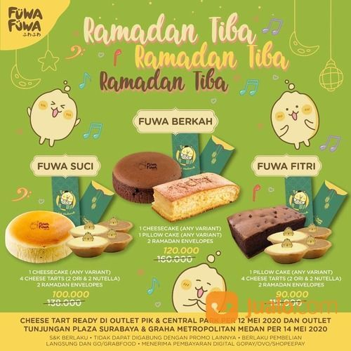 Fuwa Fuwa Promo Ramadan 3 Paket Spesial dengan Harga Spesial + Varian Baru Cheese Tart (26043631) di Kota Jakarta Selatan