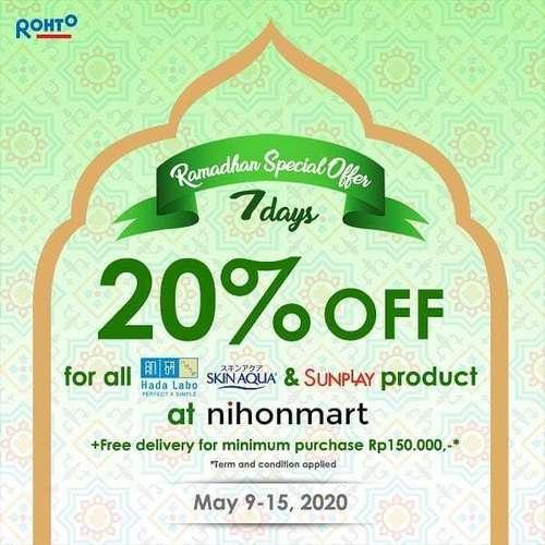 Nihonmart Promo Ramadan Special Offer! 20% OFF (26046455) di Kota Jakarta Selatan