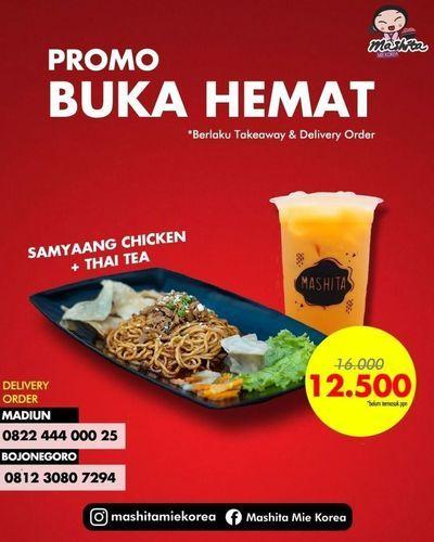 Mashita Mie Korea Promo Samyaang Chicken + GRATIS ONGKIR (26047051) di Kota Jakarta Selatan