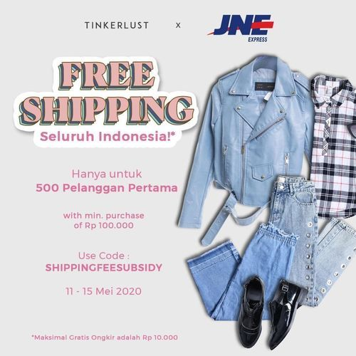 Tinkerlust x JNE Promo GRATIS ONGKIR (26047055) di Kota Jakarta Selatan