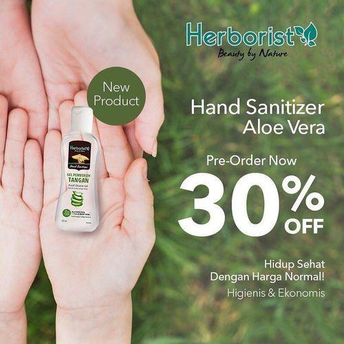 HAND SANITIZER HERBORIST ALOE VERA PROMO 30% OFF (26047167) di Kota Jakarta Selatan