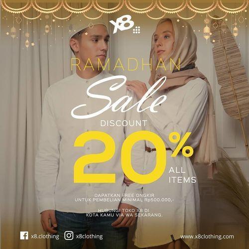 X8 Clothing Sale 20% All Items (26056027) di Kota Jakarta Selatan