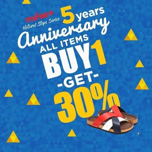 MyFeet Promo Anniversary Buy 1 Get 30% Off (26056039) di Kota Jakarta Selatan