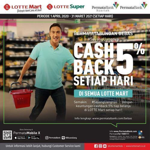 LotteMart Cashback 5% Permata Bank (26057763) di Kota Jakarta Selatan