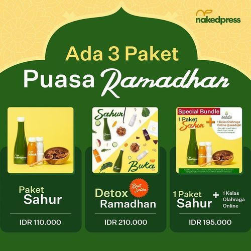 Nakedpress Juicery Promo Detox Paket Ramadhan (26058027) di Kota Jakarta Selatan