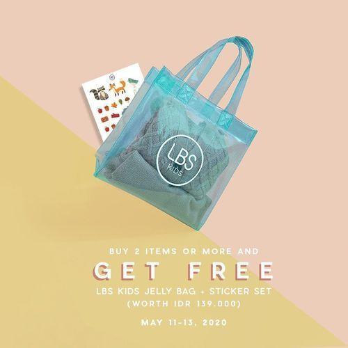 Look Boutique Store SPECIAL LAUNCHING PROMO FREE LBS Kids Jelly Bag + Sticker Set (26058455) di Kota Jakarta Selatan