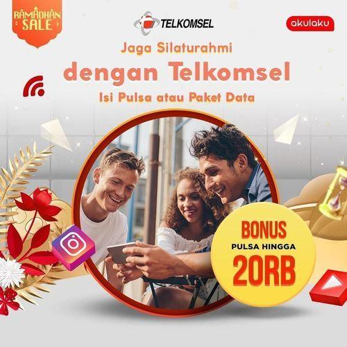 Akulaku Promo Telkomsel Isi Ulang Paket Data / Pulsa dapat Tambahan Bonus Pulsa (26058463) di Kota Jakarta Selatan