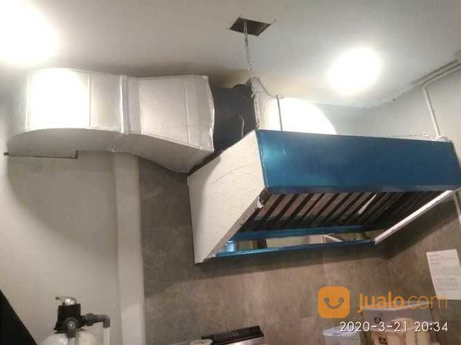 Pabrikasi Kitchen Hood Fan Restoran Stainles Steel 0.5mm Uk 1 Meter X 80 Cm X 50cm (26058707) di Kota Surabaya