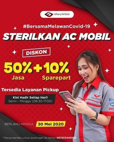 Rotary SPECIALIST AC MOBIL PROMO DISKON 50% JASA + 10% SPAREPART (26069531) di Kota Jakarta Selatan