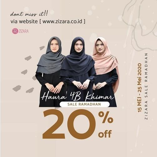 Zizara - Promo Sale Ramadhan 20% (26077743) di Kota Jakarta Selatan