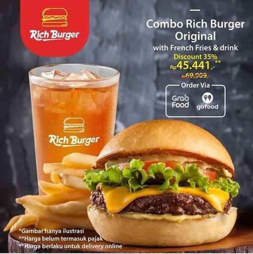 Richeese Factory - Promo Combo Rich Burger (26077827) di Kota Jakarta Selatan