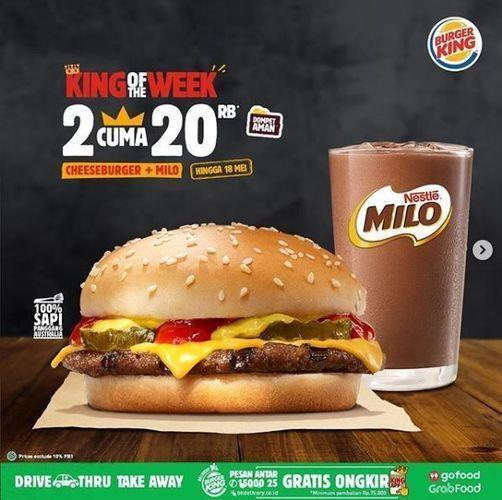 Burger King - Promo King of The Week (26077835) di Kota Jakarta Selatan