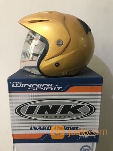 Helm INK CX 22 Kuning Emas Sport Solid Clear Satin Gold Met CX-22 CX22 (26081639) di Kab. Tangerang