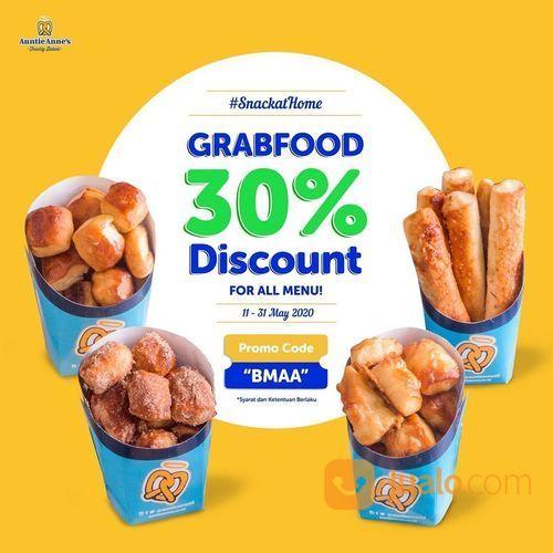 Auntie Anne's 30% Grabfood Discount (26084163) di Kota Jakarta Selatan