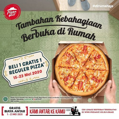 Pizza Hut Buy 1 Get 1 Regular Pizza (26094907) di Kota Jakarta Selatan