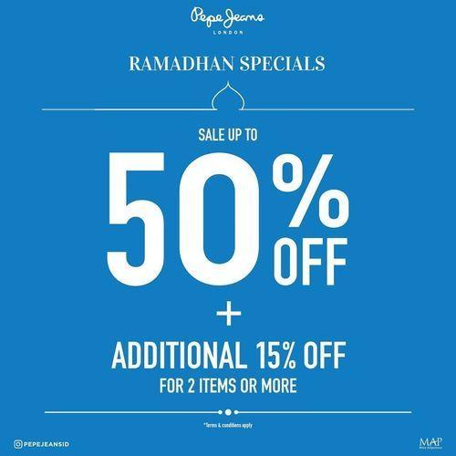 Pepe Jeans Ramadhan Deals 50% Off (26100479) di Kota Jakarta Selatan