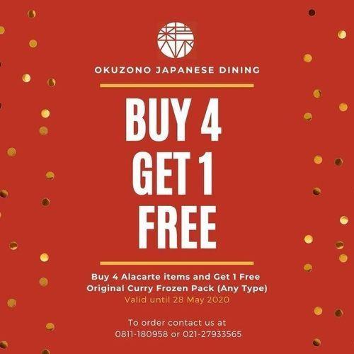 Okuzono Japanase Buy 4 Get 1 Free (26102299) di Kota Jakarta Selatan