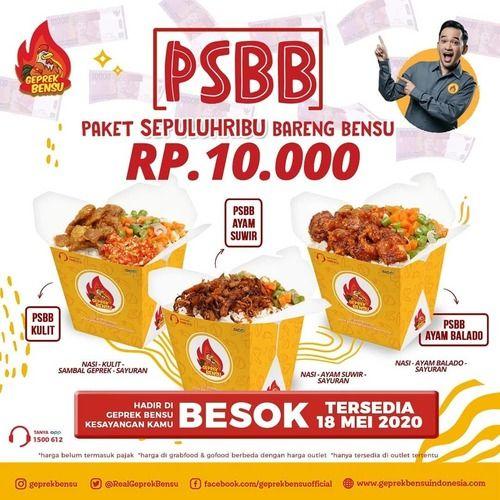 Geprek Bensu PSBB Rp.10.000 (26102739) di Kota Jakarta Selatan