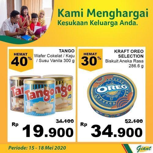 GIANT PROMO SNACK LEBARAN OREO TANGO Harga Hemat sampai 30% (26112287) di Kota Jakarta Selatan