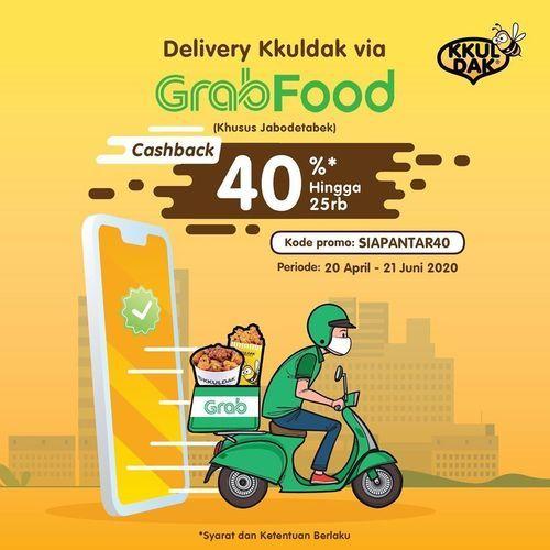 KKULDAK cashback 40% untuk order via Grabfood (26112695) di Kota Jakarta Selatan