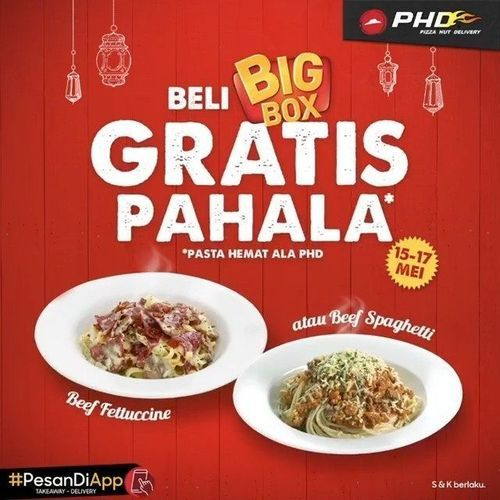 PIZZA HUT DELIVERY PROMO PAHALA RAMADHAN (26112699) di Kota Jakarta Selatan