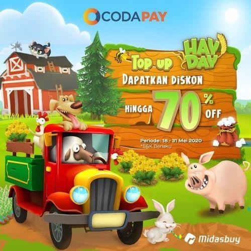 CODAPAY PROMO DISKON hingga 70% Untuk pembelian DIAMONDS HAY DAY (26113099) di Kota Jakarta Selatan
