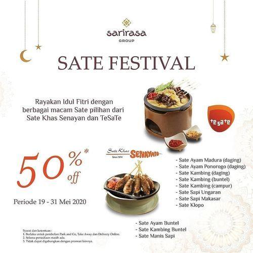 Sarirasa Group Sate Festival 50% Off (26113219) di Kota Jakarta Selatan
