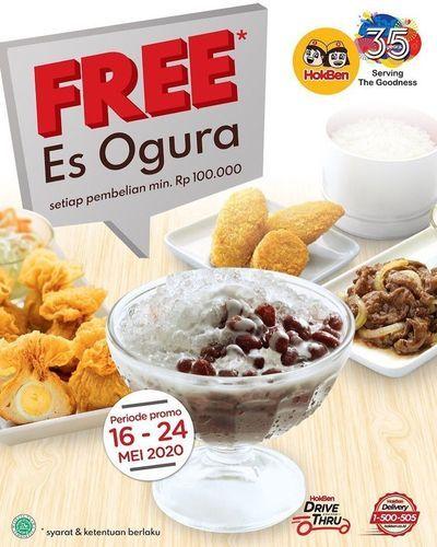 Hokben Free Es Ogura (26114043) di Kota Jakarta Selatan