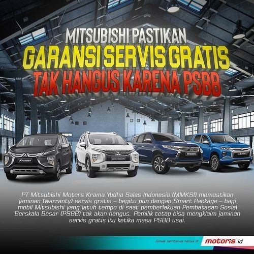 Motoris Indonesia Garansi Service Gratis Mitsubishi (26114127) di Kota Jakarta Selatan