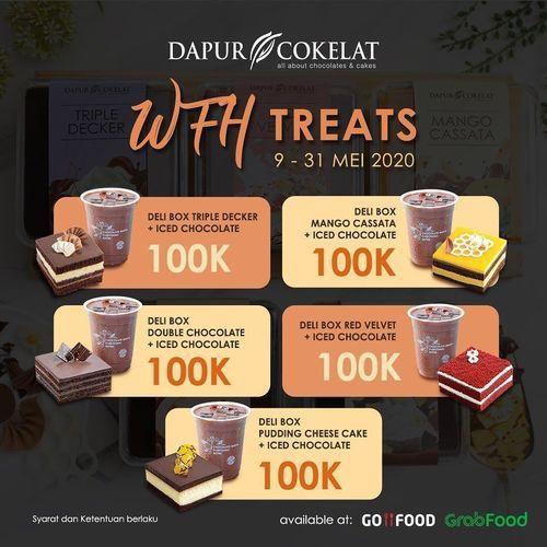 DAPUR COKELAT PROMO Iced Chocolate dan Delibox (10x10)! Cuma Rp 100.000 GOFOOD & GRABFOOD ONLY (26119415) di Kota Jakarta Selatan