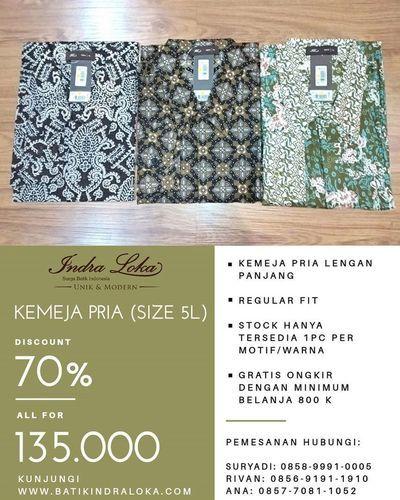 BATIK INDRALOKA RAMADHAN SALE DISKON 70% (26123807) di Kota Jakarta Selatan