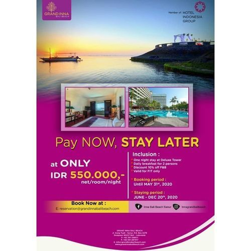 INNA GRAND BALI BEACH HOTEL PROMO PAY NOW STAY LATER (26123835) di Kota Denpasar