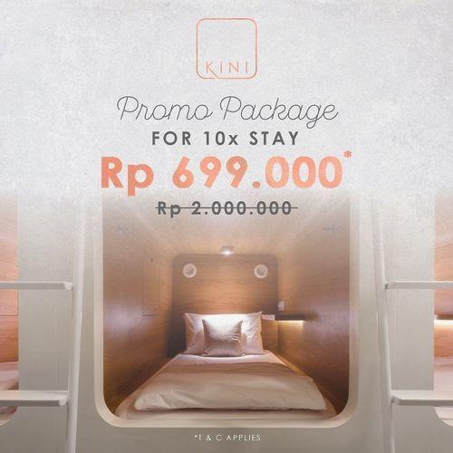 KINI CAPSULE HOTEL JAKARTA PROMO PACKAGE FOR 10X STAY (26123839) di Kota Jakarta Selatan