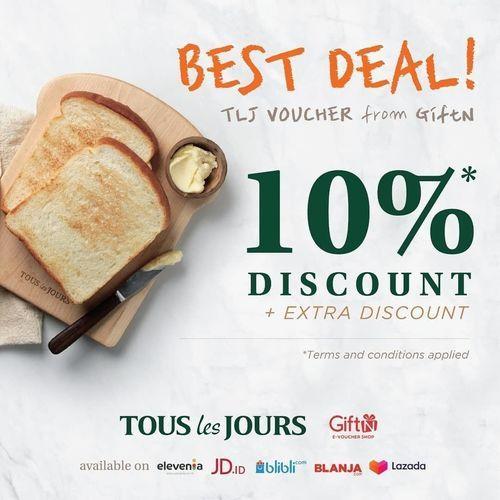 Tous Les Jours Best Deal 10% Discount (26125423) di Kota Jakarta Selatan